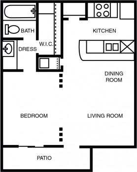 1 Bedroom fp